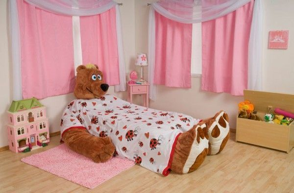 huge teddy bear bed for kids who love bears