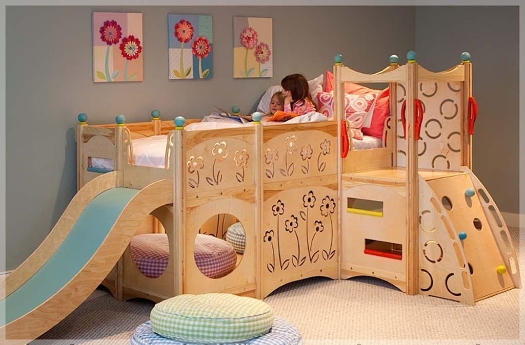 double deck princess slider bed for girls