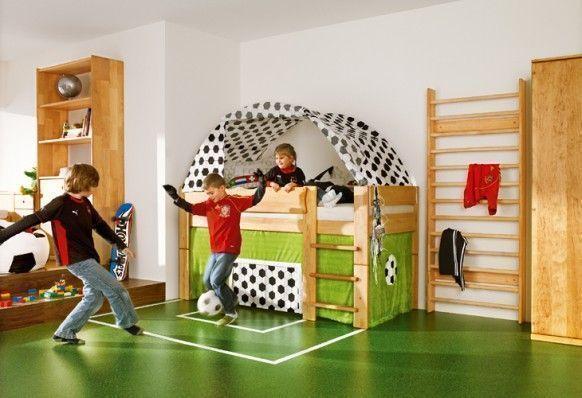 sporty football soccer theme bedroom for boys