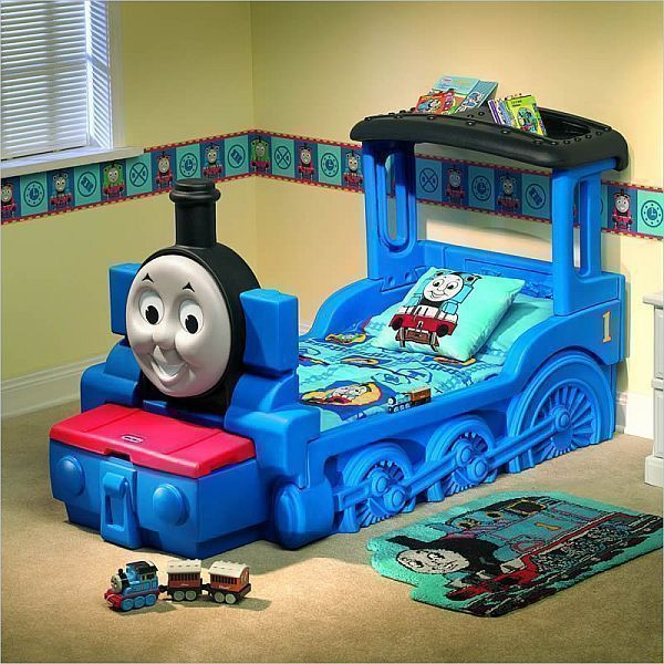 thomas & friends train theme bed and bedroom accessories for kids