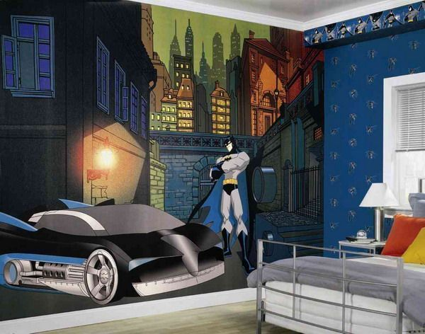 cartoon animation wallpaper mural for kids room