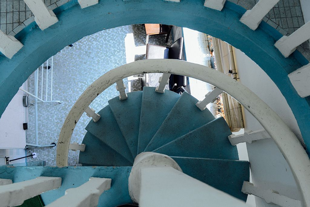 spiral staircase at lime house singapore