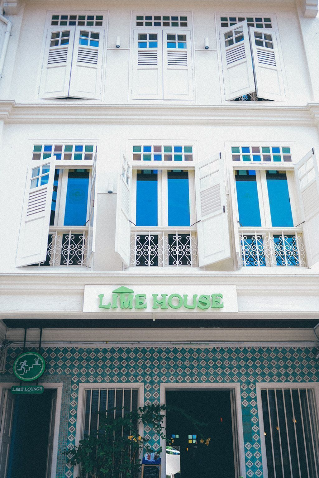 Facade of Lime House Singapore
