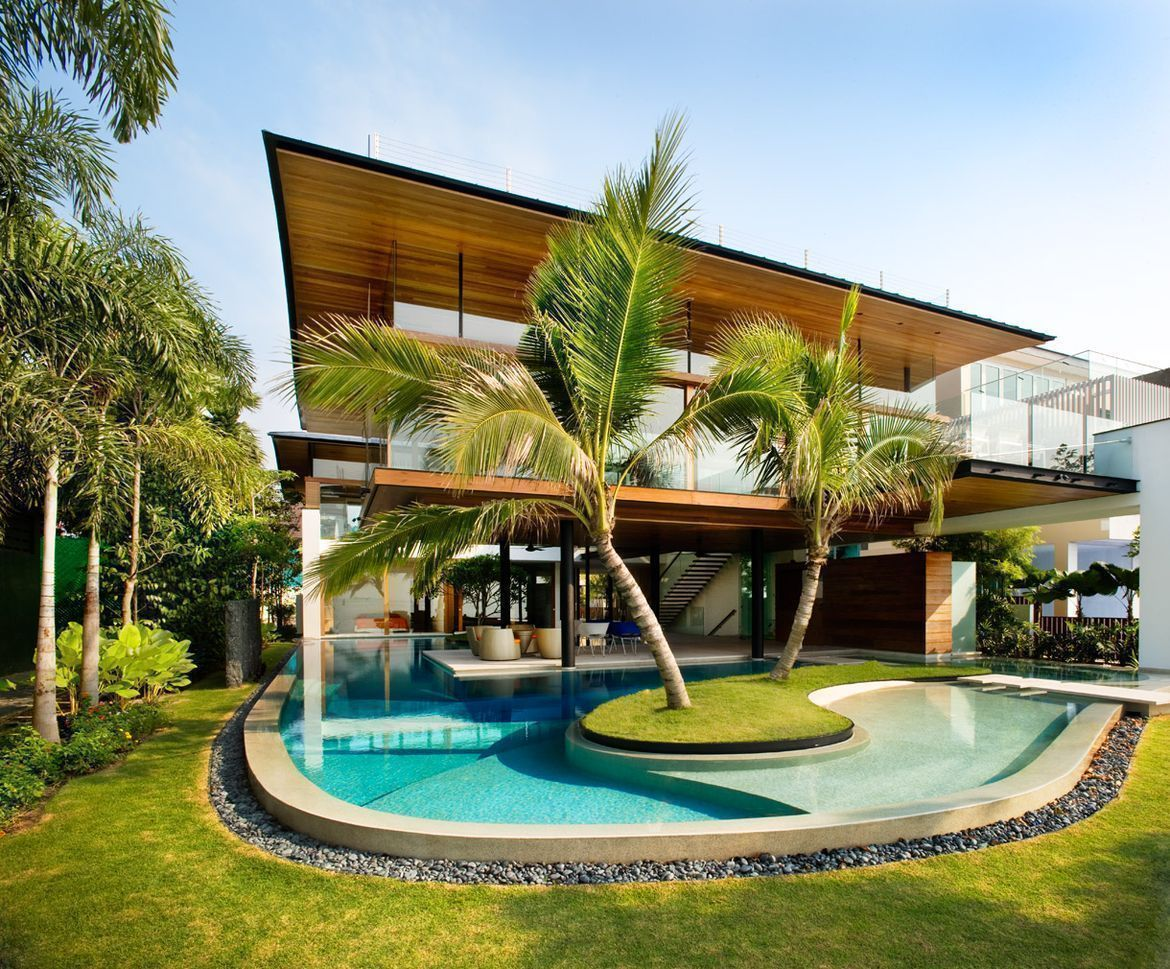 House tour million dollar home in sentosa cove - La residence exotique fish house singapour ...