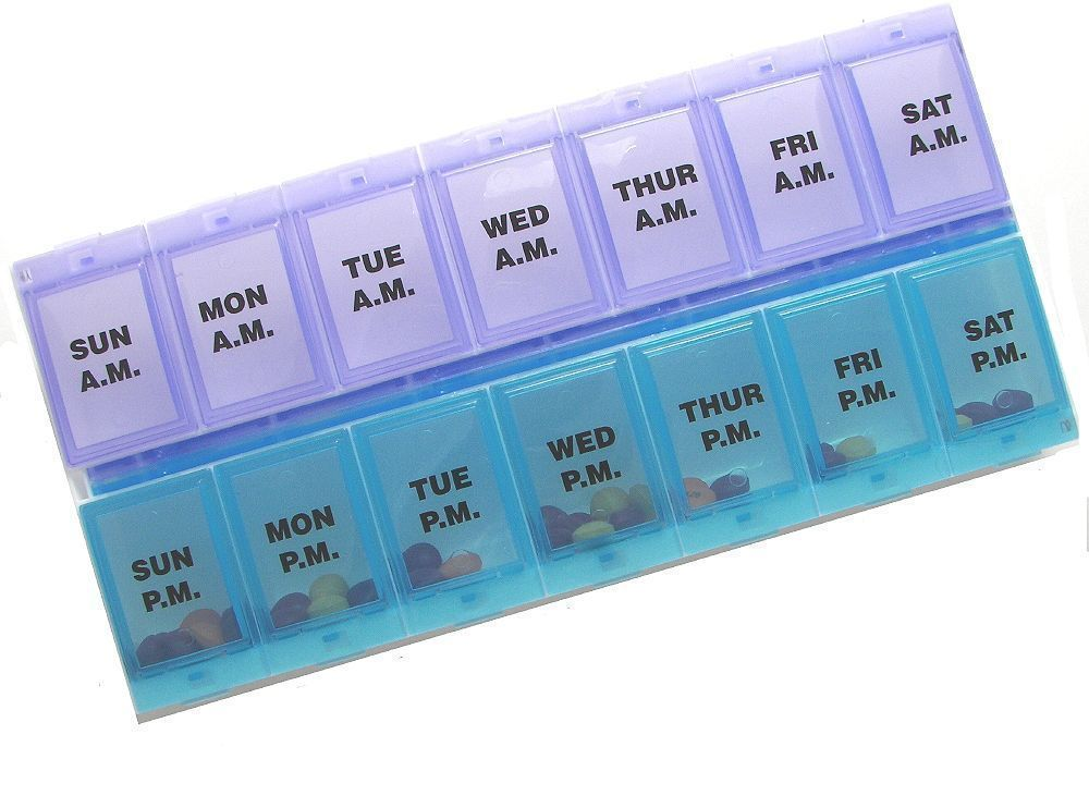pill boxes help to keep daily medications and vitamins organised for daily intake