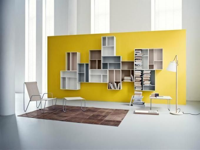 bright shelving options for keeping your home office organized