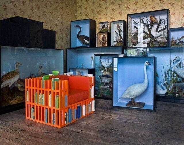 Multipurpose bookshelf and chair