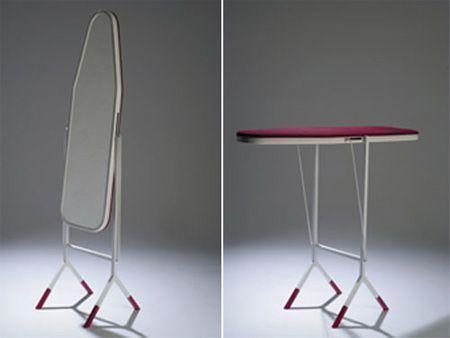 multipurpose mirror and iron board