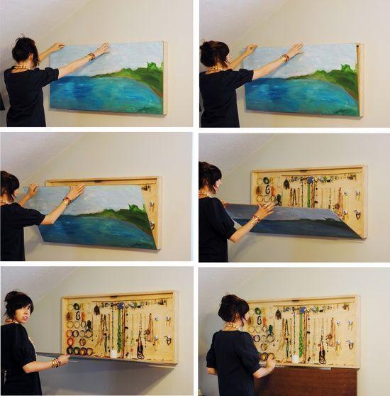 multipurpose painting artwork and jewellery storage