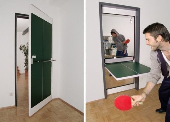 multipurpose door and ping pong table