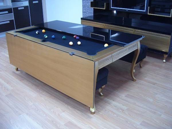 multipurpose dining table and pool table