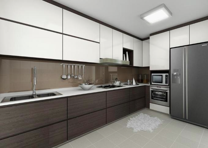 a clean and modern kitchen at home
