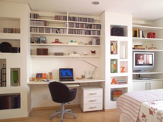 neat and organized work desk at home