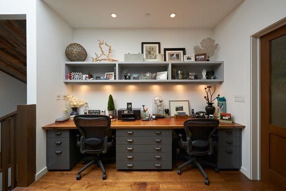 industrial home office for two people