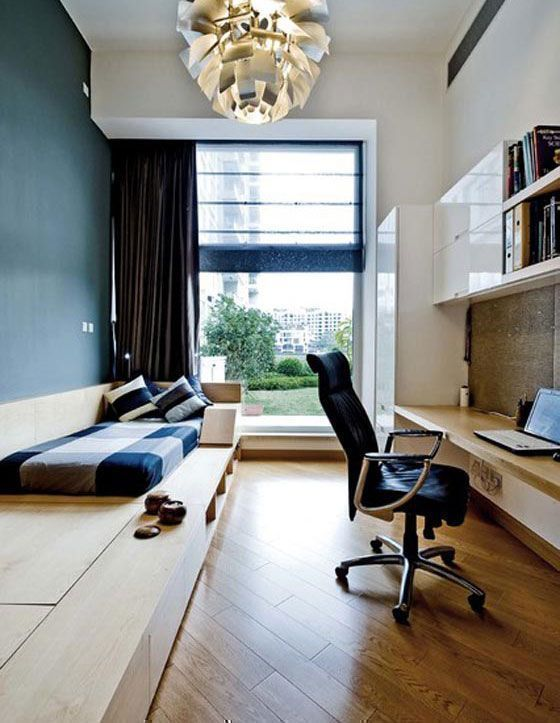 a zen and neutral colour study room
