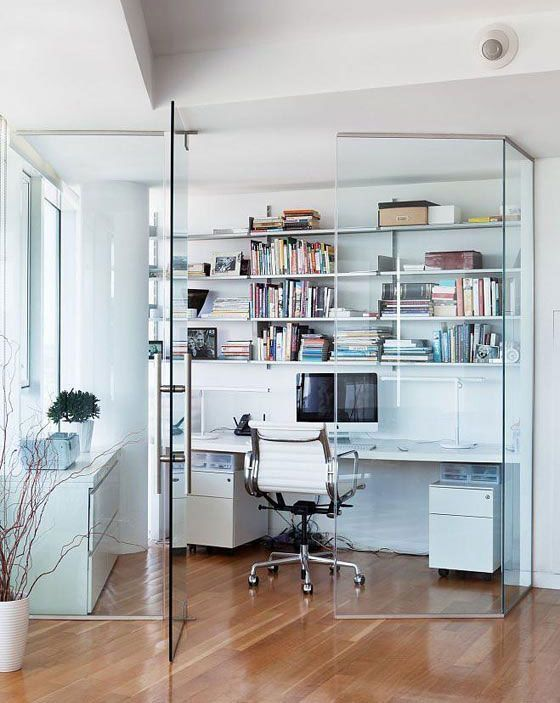 glass panel work station home office