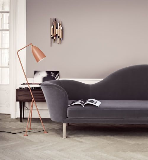 stylish modern grey suede sofa for upholster