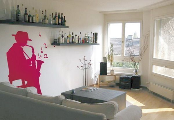 use smaller design wall stickers in small spaces