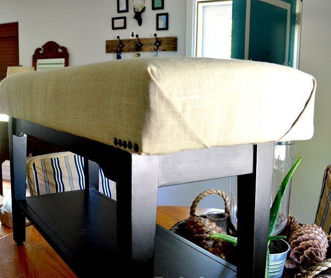 using bronze tacks as a finishing touch for the upholstering
