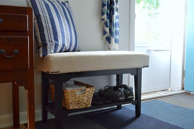 home improvement DIY upholstered bench