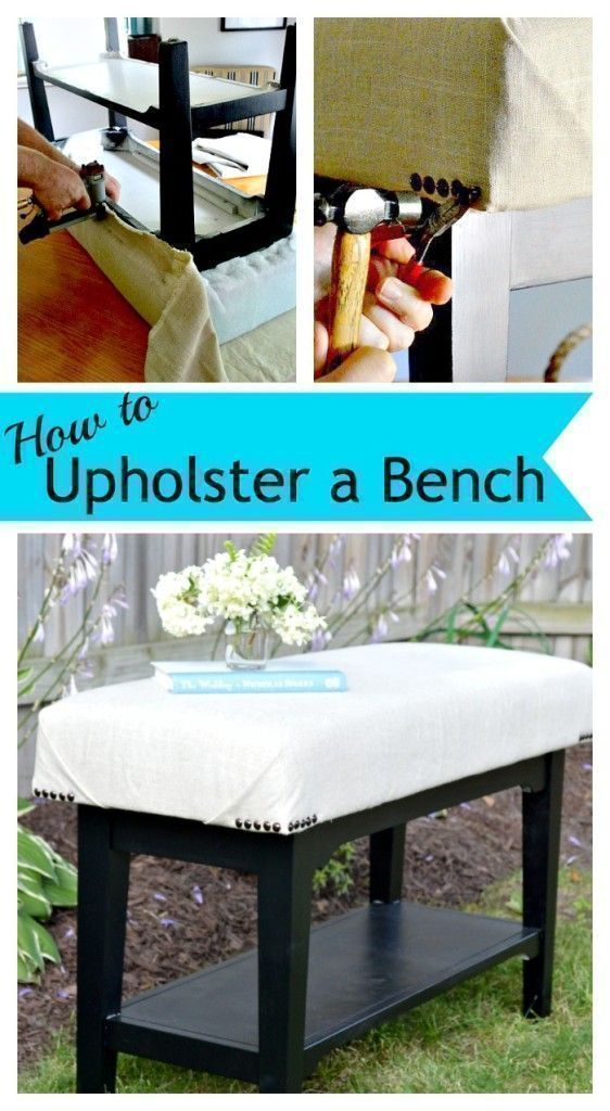 How to upholster old or worn furnitures at home
