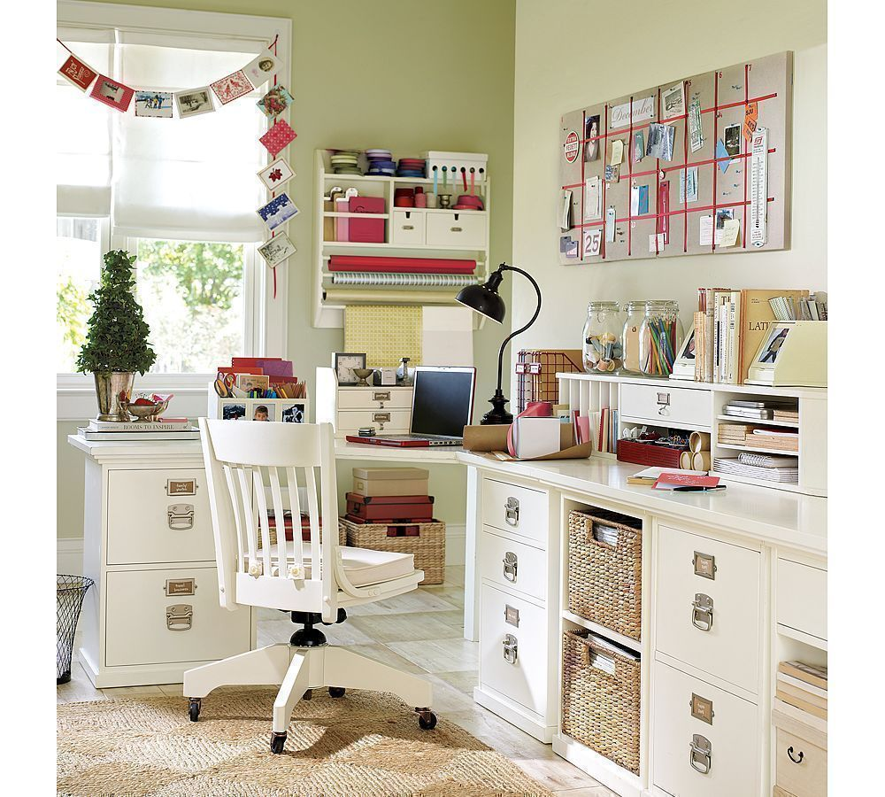 ample storage for keeping work documents in the home office